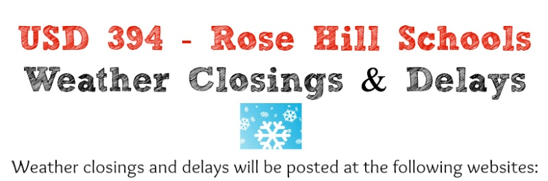 USD 394 - Weather Closings and Delays