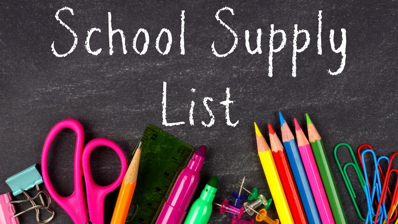 USD 394 - Current School Supply List